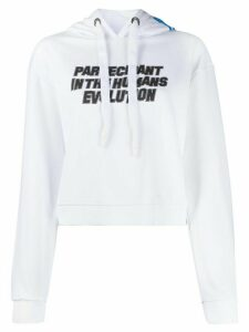 Omc graphic print cropped hoodie - White