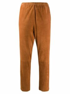 Drome pull-on straight-leg trousers - Brown