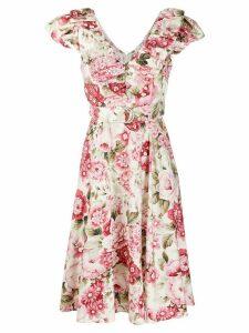 P.A.R.O.S.H. V-neck ruffled trim dress - PINK