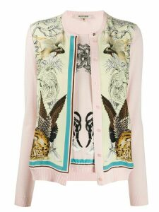 Roberto Cavalli floral and animal print cardigan - PINK