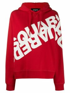 Dsquared2 double logo printed hoodie