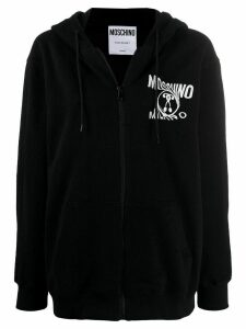 Moschino Double Question Mark zipped hoodie - Black