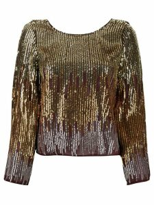 Rixo ombré sequin blouse - GOLD