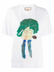 Plan C painting-print crew neck T-shirt - White
