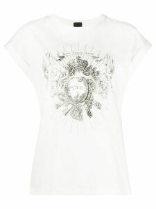 Pinko fringed graphic print T-shirt - White