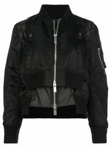 Sacai double-layered bomber jacket - Black