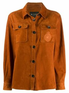 Etro suede shirt-jacket - Brown