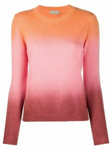 Etro fine knit colour blocked jumper - ORANGE