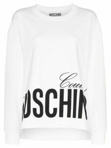 Moschino logo print sweatshirt - White