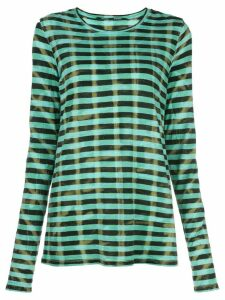 Proenza Schouler Striped Tie Dye Long Sleeve T-Shirt - Blue