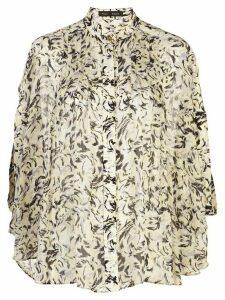Proenza Schouler printed cape sleeves blouse - Yellow