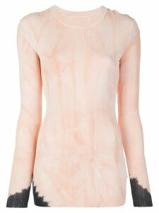 Proenza Schouler Dipped Tie Dye Long Sleeve Knitted Top - PINK
