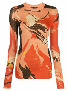 Proenza Schouler Abstract Painted Jumper - ORANGE