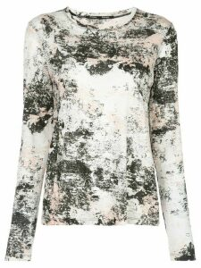 Proenza Schouler foil printed T-shirt - White