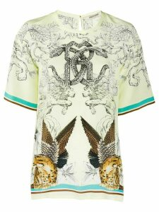 Roberto Cavalli Hybrid Animals print T-shirt - Yellow