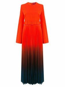 Solace London dip dye maxi dress - Red