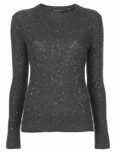 Fabiana Filippi sequin V-neck jumper - Grey