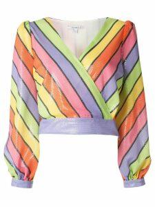 Olivia Rubin Kendall rainbow stripe blouse - PURPLE