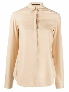 Agnona long-sleeved plain shirt - NEUTRALS