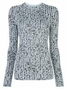 Proenza Schouler White Label dot jacquard knitted top - Blue