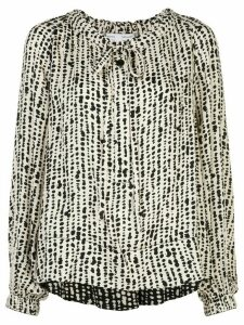 Proenza Schouler White Label inked dot patterned blouse