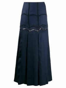 Gabriela Hearst embroidered flared maxi skirt - Blue