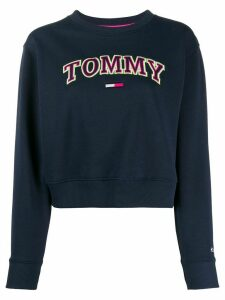 Tommy Jeans relaxed-fit neon logo sweatshirt - Blue