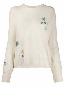 Forte Forte relaxed-fit geometric-pattern jumper - NEUTRALS