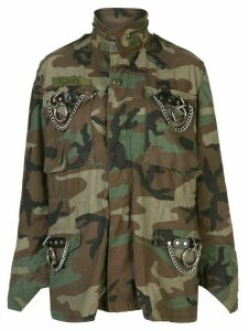 R13 camouflage print jacket - Green