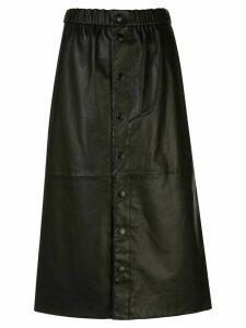 Sea New York leather midi skirt - Black