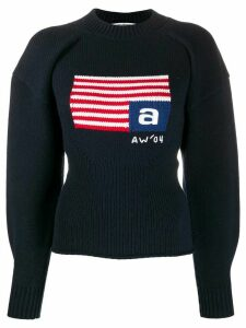 Alexander Wang volume flag mock neck jumper - Blue