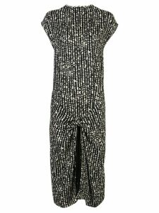 Proenza Schouler White Label abstract print knot detail wrap dress -