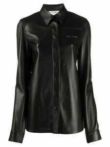 1017 ALYX 9SM leather long sleeve shirt - Black
