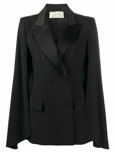 Alberta Ferretti double breasted cape jacket - Black