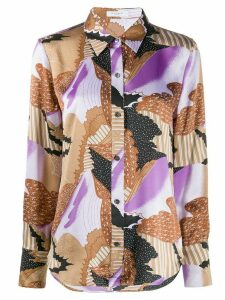 Equipment Sedienne abstract-print shirt - PURPLE