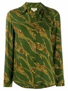 L'Agence Nina chain-print shirt - Green