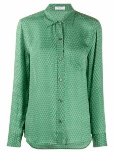 Equipment geometric-print silk shirt - Green