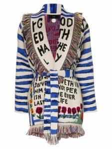 Alanui Salvation shawl collar cashmere cardigan - Blue