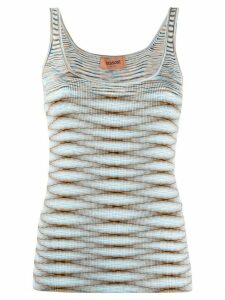 Missoni intarsia knit sleeveless top - Blue