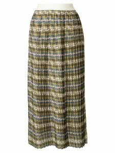 Manning Cartell pleated houndstooth skirt - Green