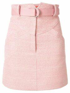 Manning Cartell high-waisted belted skirt - PINK