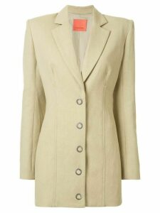 Manning Cartell structured shoulder mid-length blazer - Green