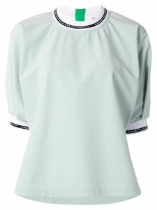 Kolor contrast trimmed blouse - Green