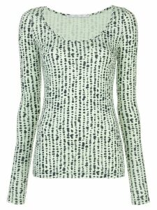 Proenza Schouler White Label dot jacquard knitted top - Green