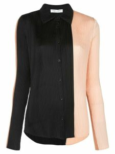 Proenza Schouler White Label colour-block pleated blouse - Black