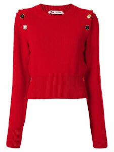 Ports 1961 shoulder buttoned jumper - Red