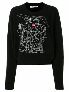 Ports 1961 embroidered jumper - Black