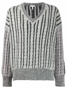Loewe striped wool knitted jumper - Grey