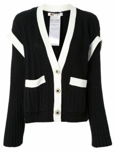 Ports 1961 layered contrasting cardigan - Black