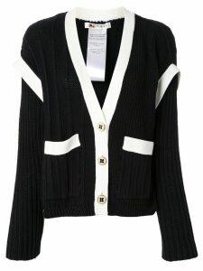 Ports 1961 layered contrasting cardigan - Black
